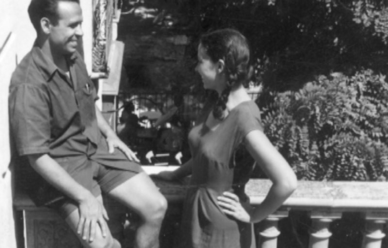Josep Pallach i Teresa Juvé, a Cotlliure. Foto cedida per Arxiu Fundació Pallach.